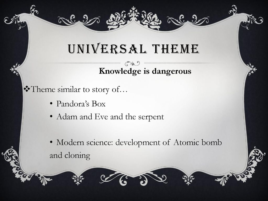 what is the theme of the story pandora box