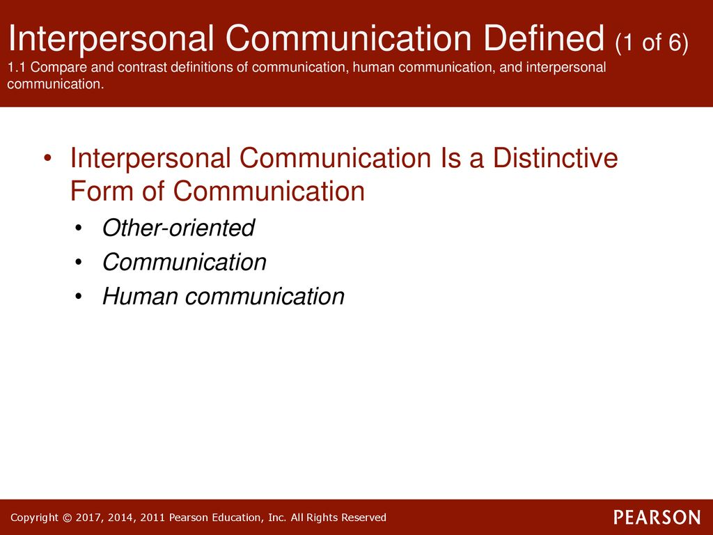 introduction to interpersonal communication - ppt download