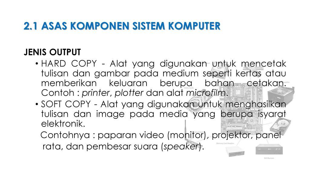 Komponen Sistem Komputer Ppt Download