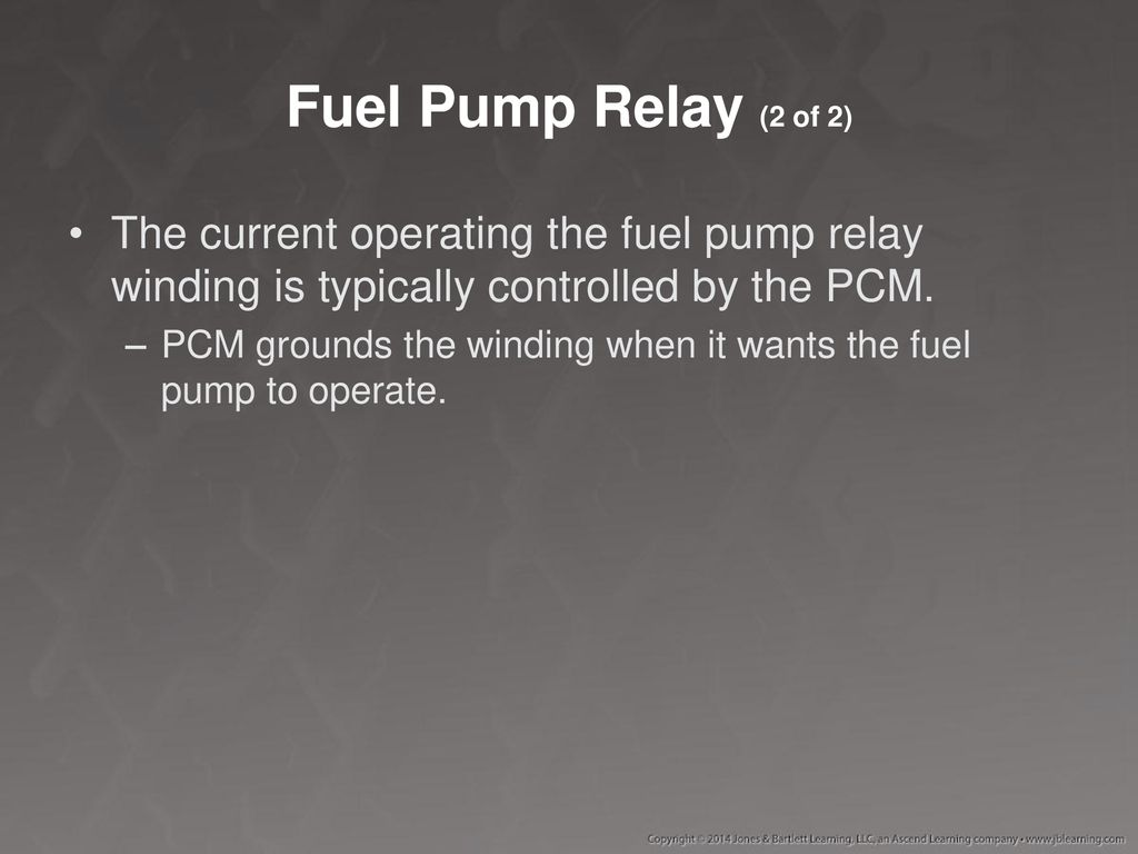 fuel pump secondary circuit failure pcm to ground