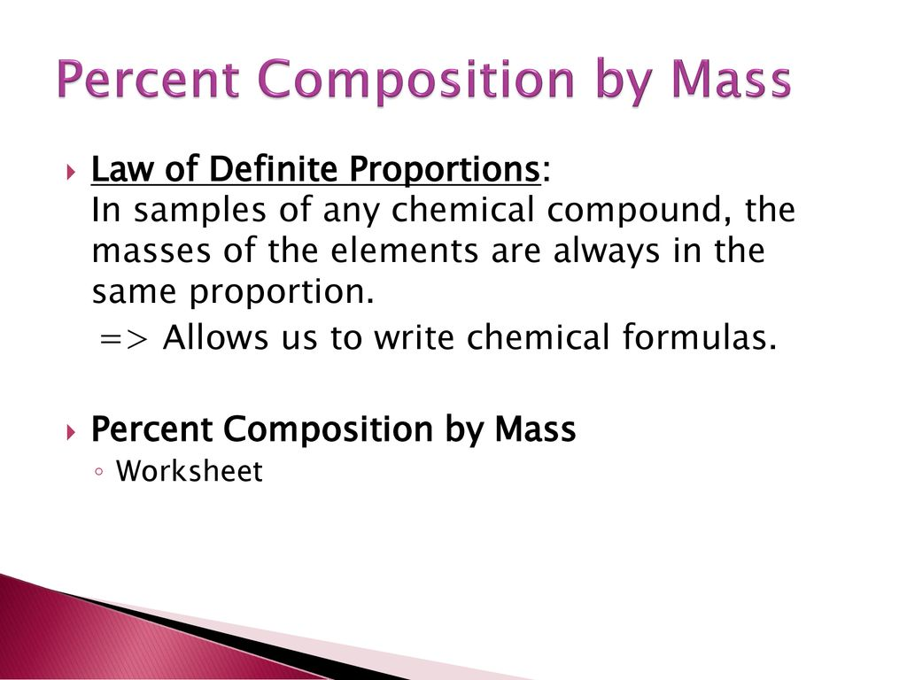 Worksheets Gram Formula Mass Worksheet chemical quantities stoichiometry ppt download percent composition by mass