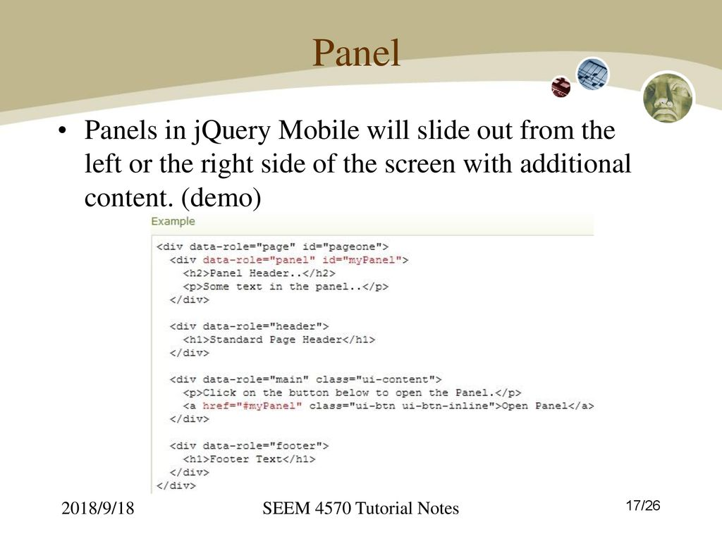 Tutorial 4: jQuery Mobile - ppt download