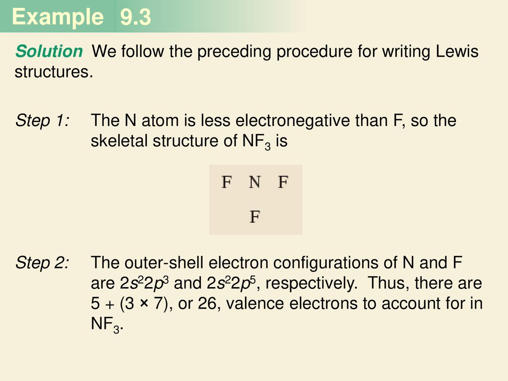 9 3 solution we follow the preceding procedure for writing lewis structures