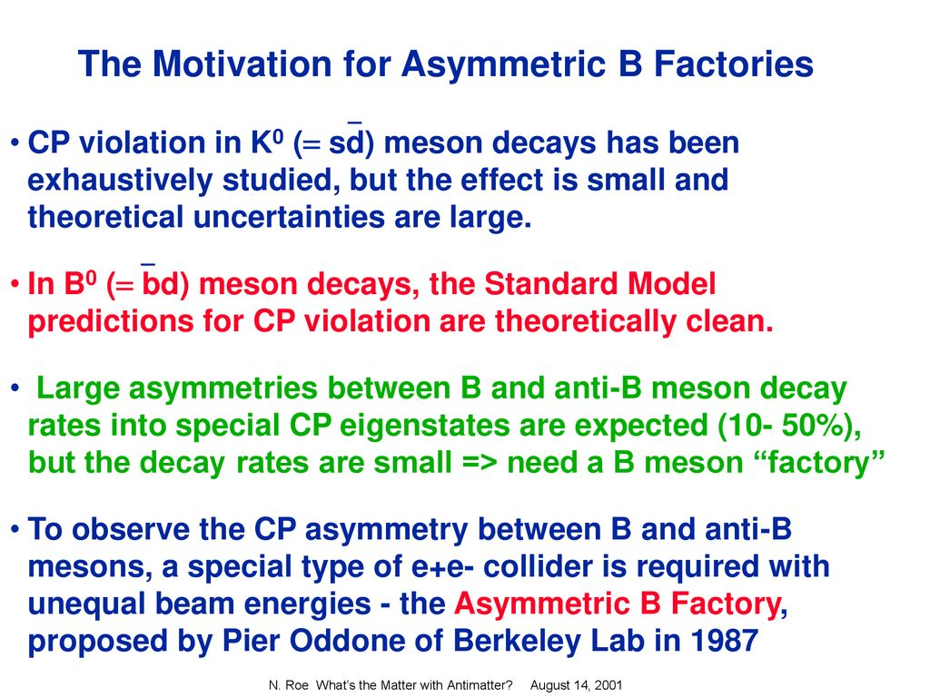 What's the Matter With Antimatter? Or, The Leftover Universe - ppt