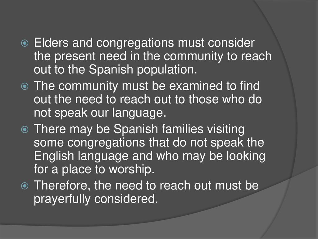 starting a spanish ministry in your congregation - ppt download