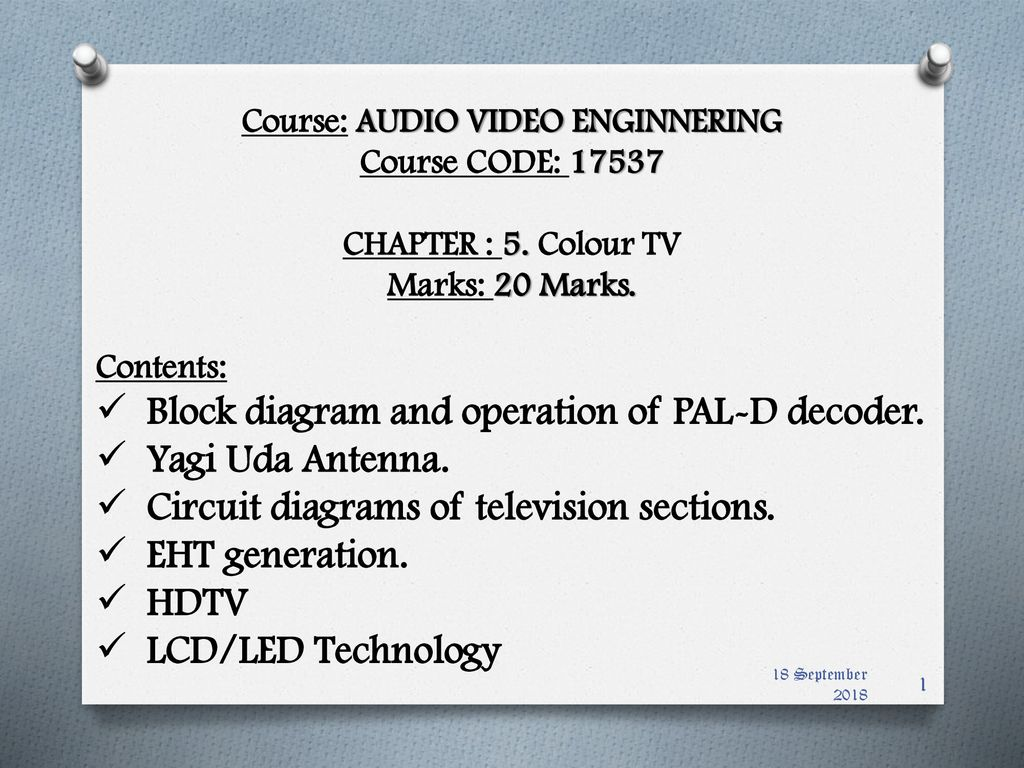 course: audio video enginnering