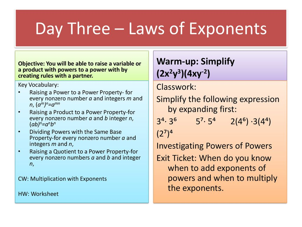 Exponents and Scientific Notation - ppt download