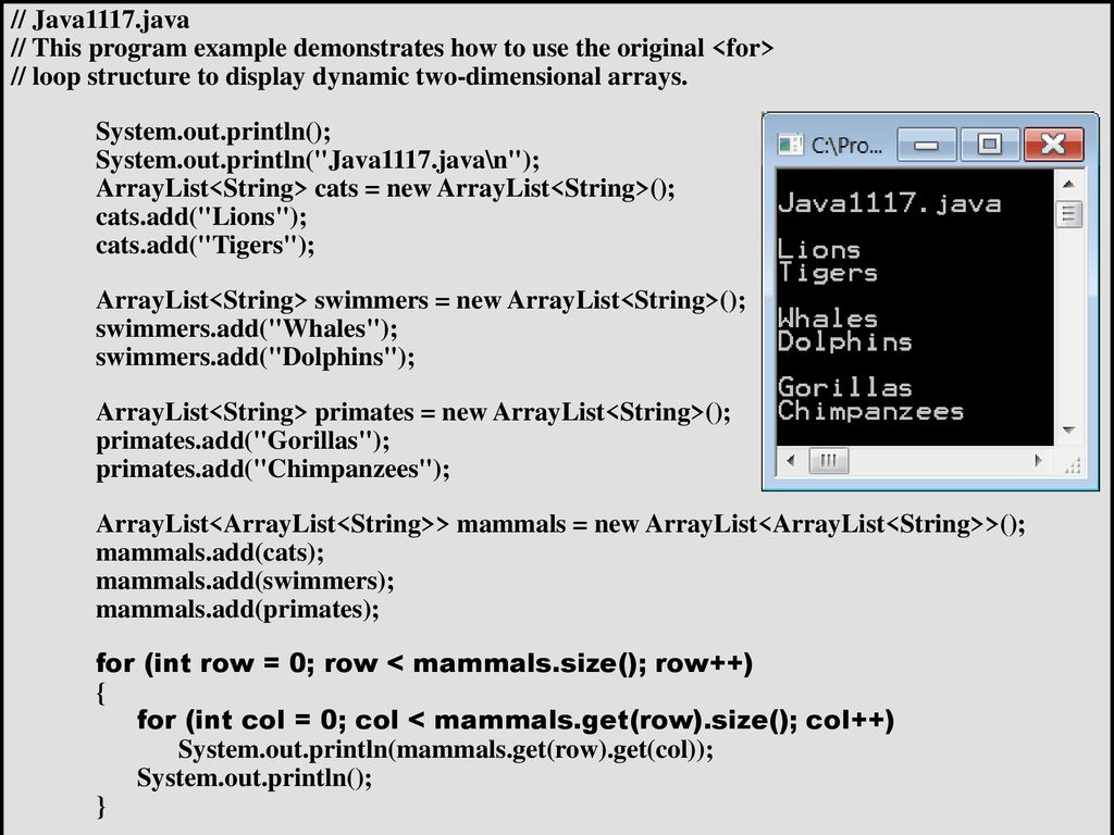 with the ArrayList Class - ppt download