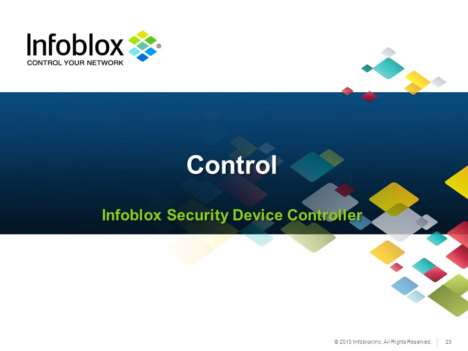 Infoblox Security Device Controller