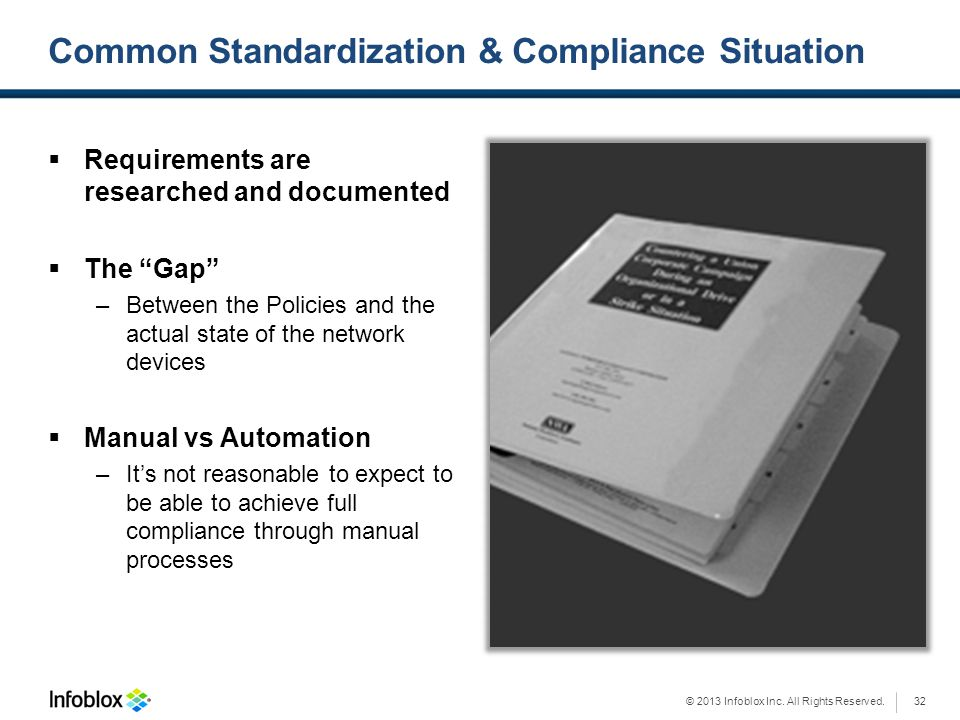 Common Standardization & Compliance Situation