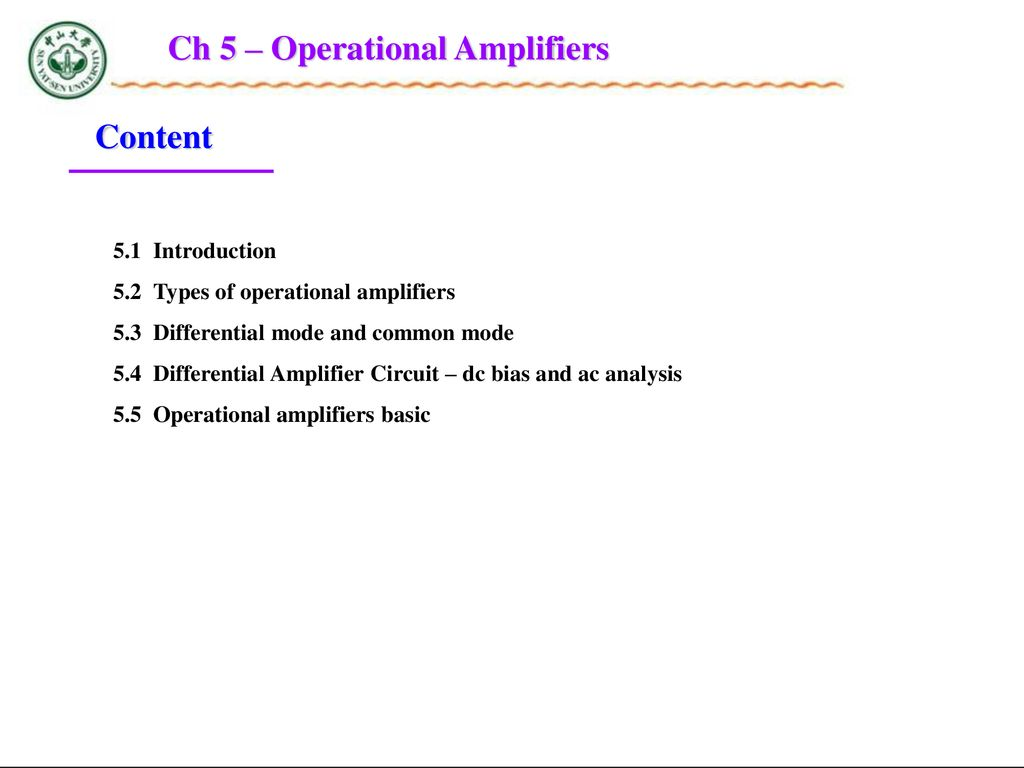 Chapter 5 Operational Amplifiers Ppt Download Power Quad Opamp Circuit Filtercircuit Basiccircuit Dc Bias And Ac Analysis 55 Basic Ch