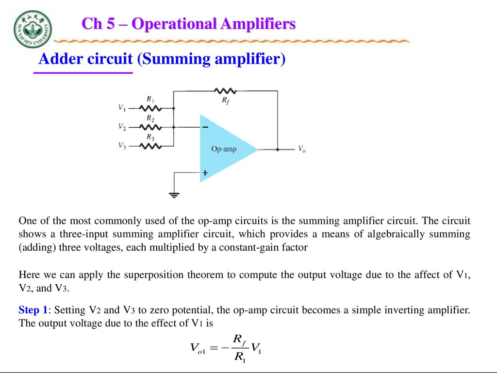 Chapter 5 Operational Amplifiers Ppt Download Three Op Amps Instrumentation Amplifier Easy Gain Adjustment Design Ch
