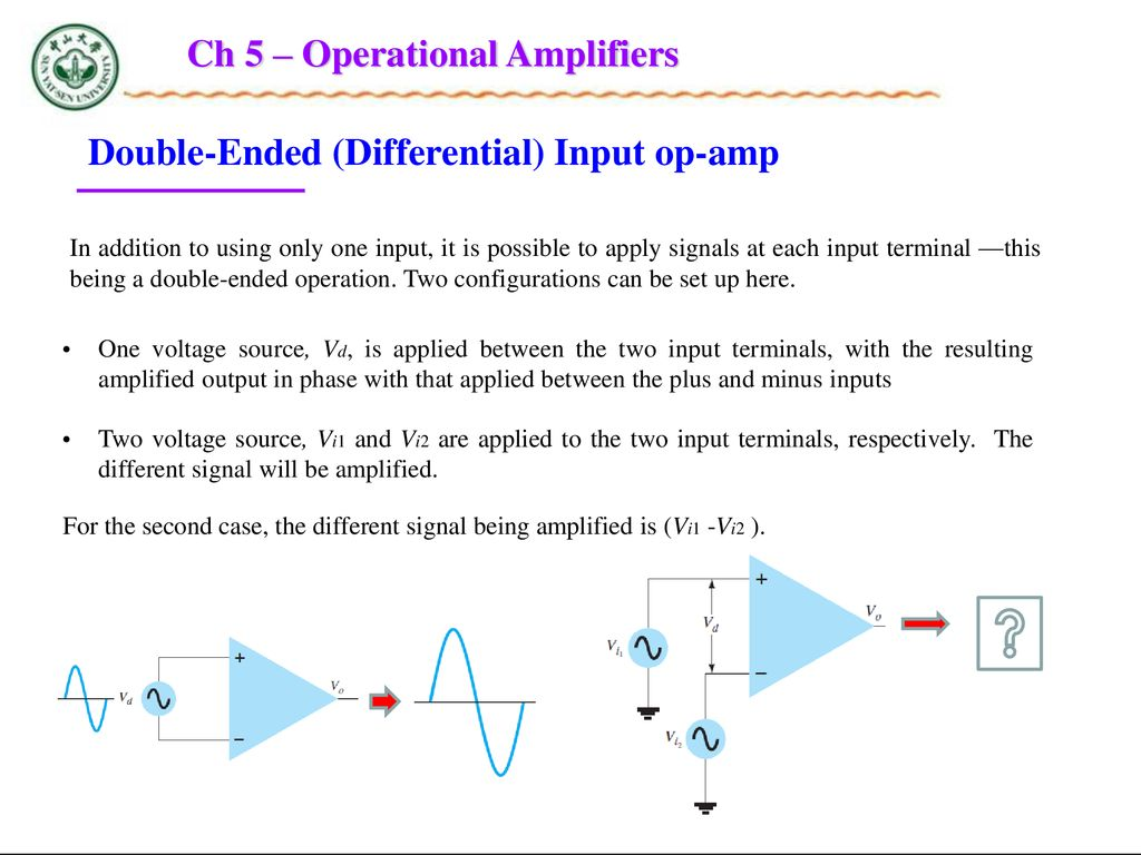 Chapter 5 Operational Amplifiers Ppt Download Where Can You Find An Amplifier With A Single Input And What Voltage Ch
