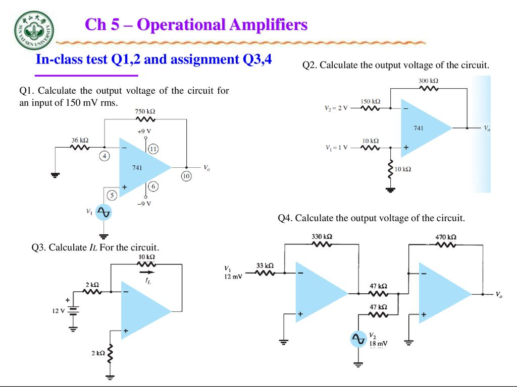 Chapter 5 Operational Amplifiers Ppt Download 9 Volt Amplifier Circuit Diagram Ch