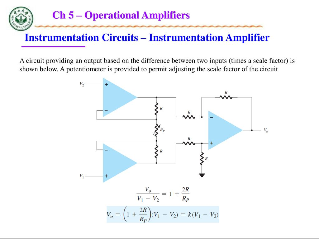 Chapter 5 Operational Amplifiers Ppt Download Instrumentation Amplifier Circuit Diagram Ch