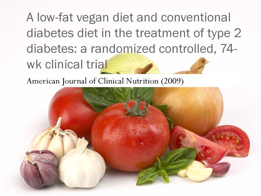 diabetes low fat vegan diet 74 weeks