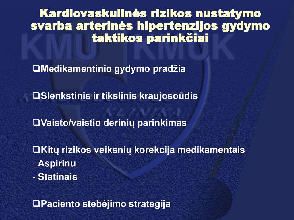 hipertenzijos gydymo pradžia)