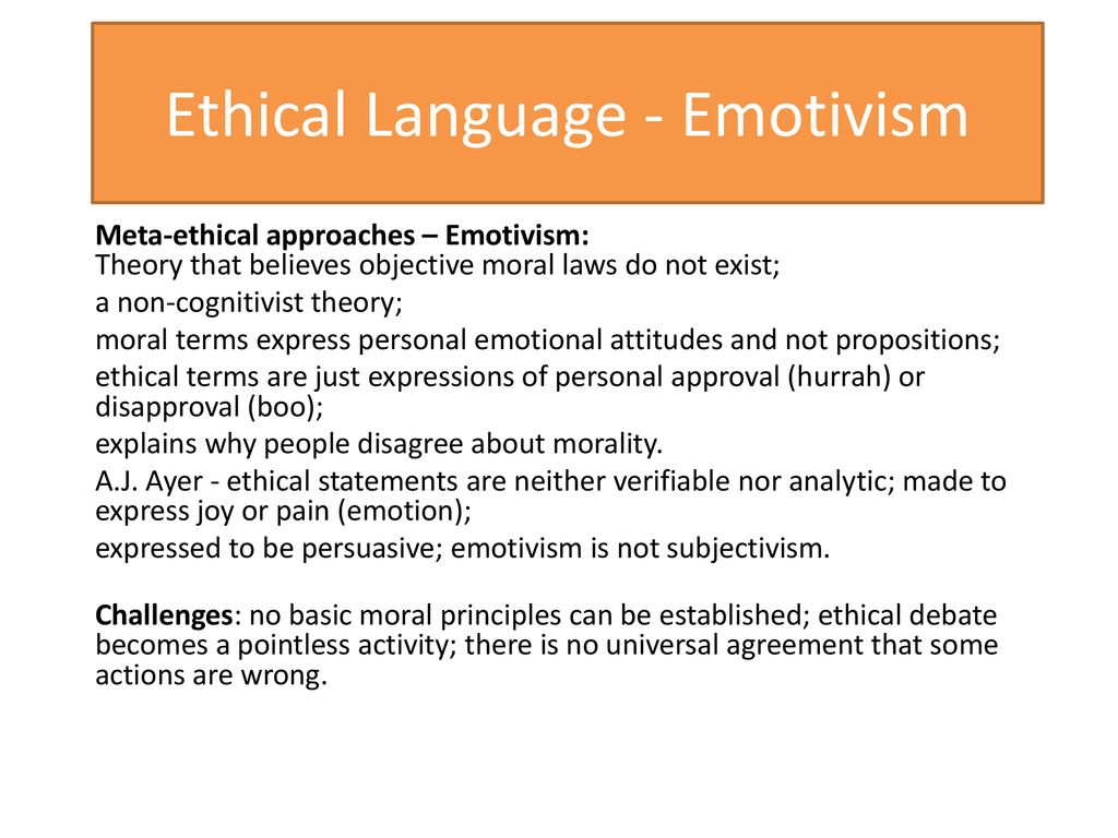 ethical emotivism definition