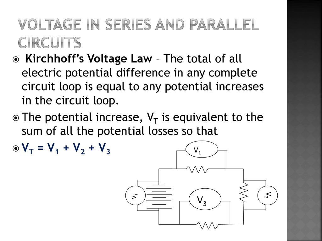 Electric Potential Difference Aka Voltage Ppt Download In A Circuit Series And Parallel Circuits