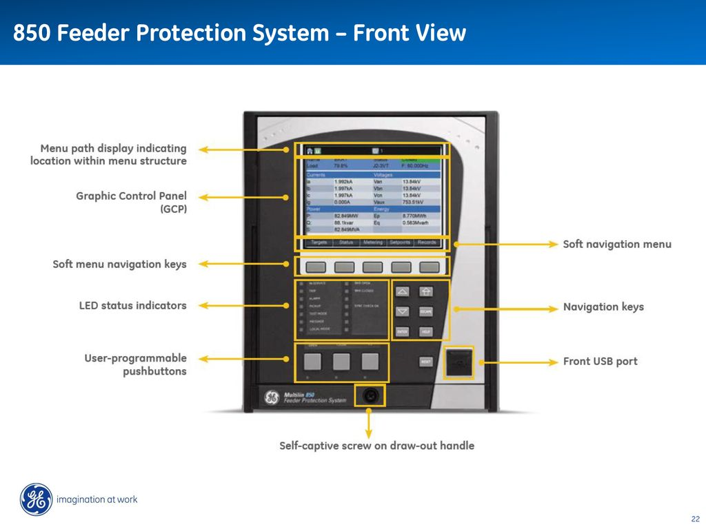 GE Digital Energy Multilin 850 Feeder Protection System ... on