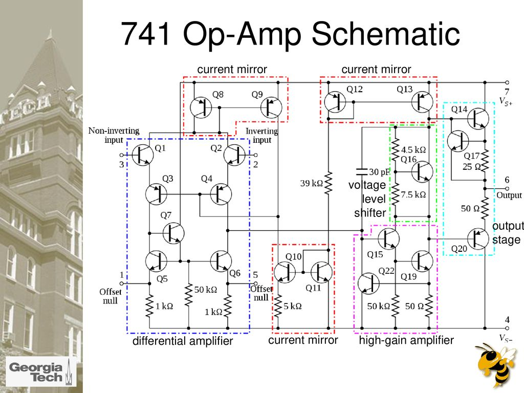 What Is An Op Amp The Surface Ppt Download 741 Circuit Diagrams 11 Schematic