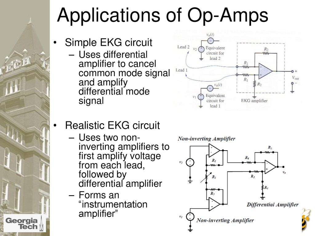 What Is An Op Amp The Surface Ppt Download Complete Ecg Circuit Diagram With Virtual Ground 24 Applications Of Amps Simple Ekg