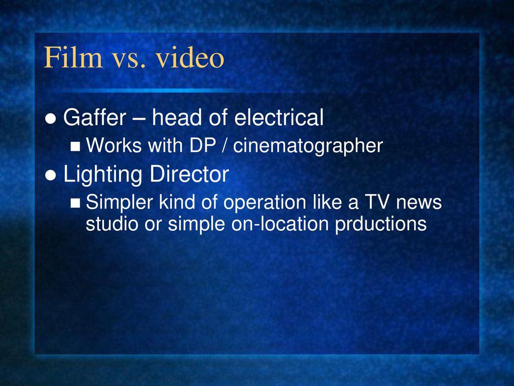 RTV 322 Lighting  - ppt download