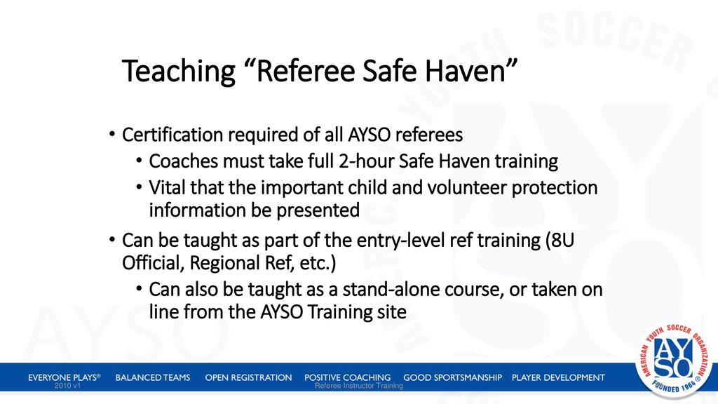 Referee Instructor Training Ppt Download