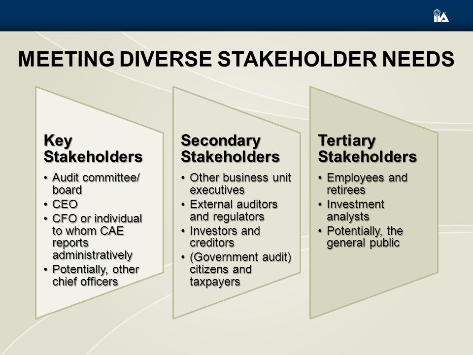 Meeting Diverse Stakeholder Needs