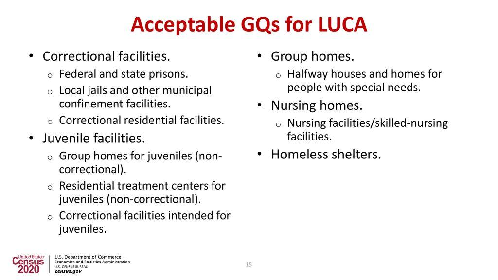 2020 Census Local Update Of Census Addresses Operation LUCA