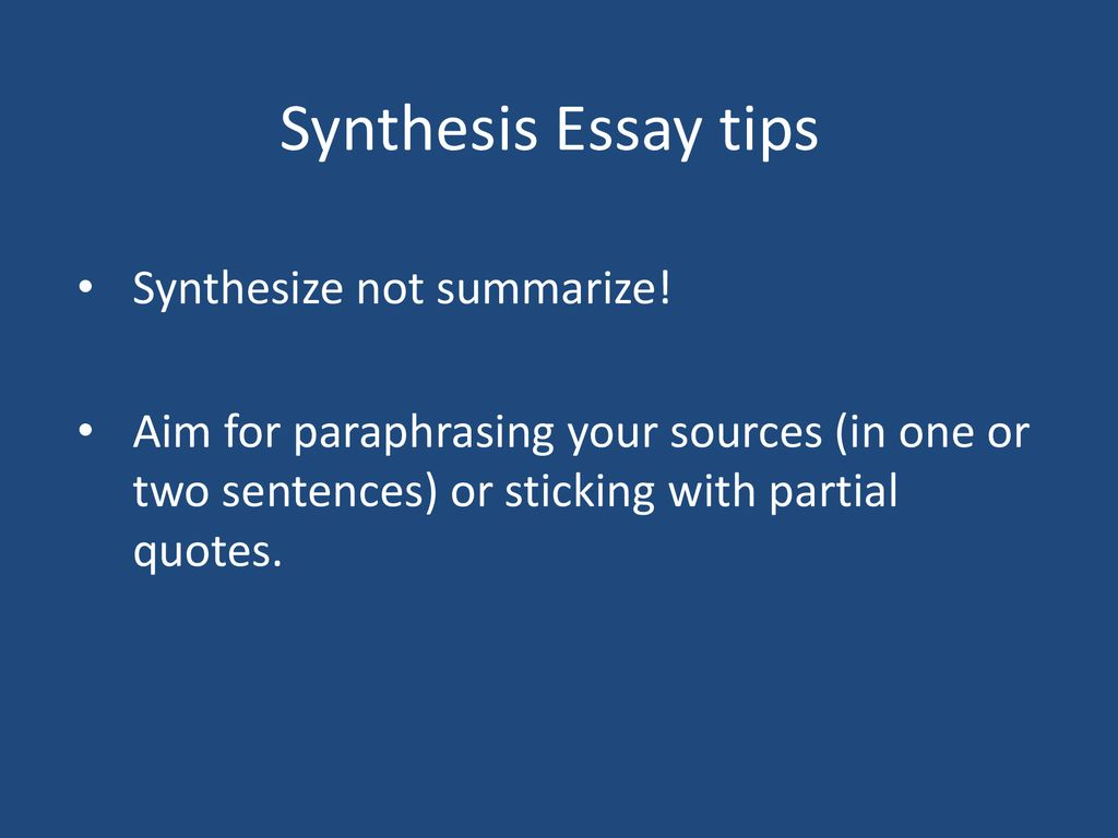 Minutes How Are The Synthesis Essay And Rhetorical Analysis   Synthesis Essay Tips