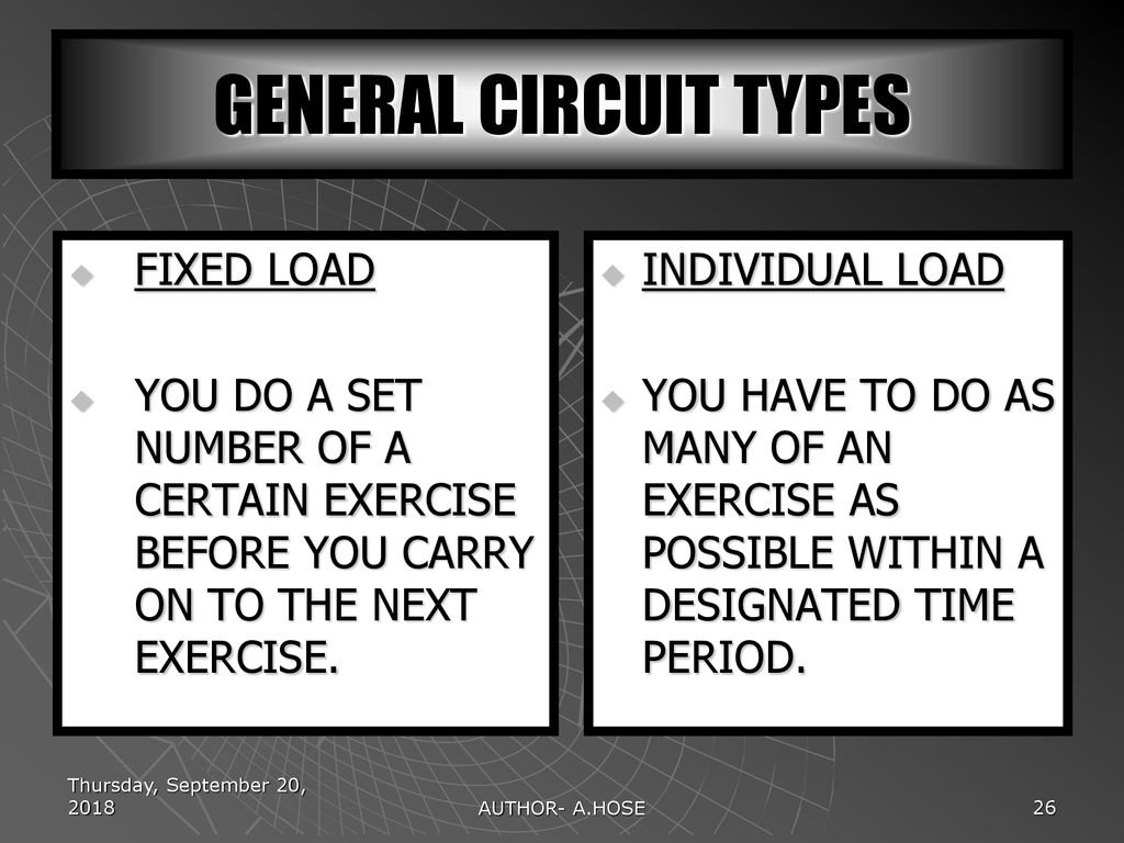 Fitness And Training Methods Ppt Download Circuittypes General Circuit Types Fixed Load