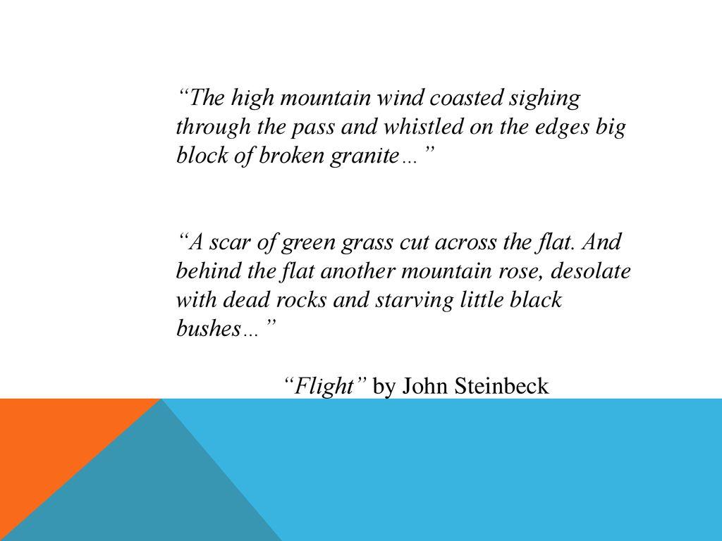 flight by john steinbeck