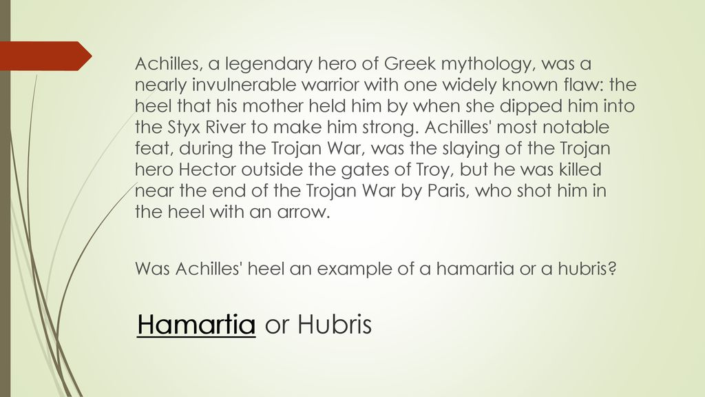 examples of hubris in greek mythology