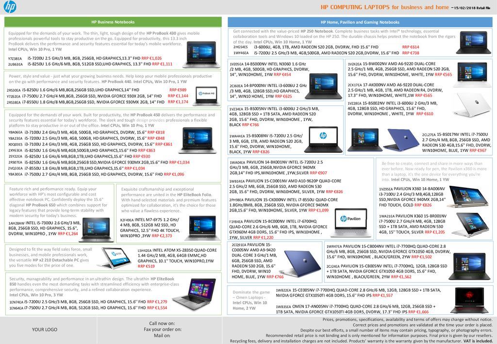 HP Home, Pavilion and Gaming Notebooks - ppt download