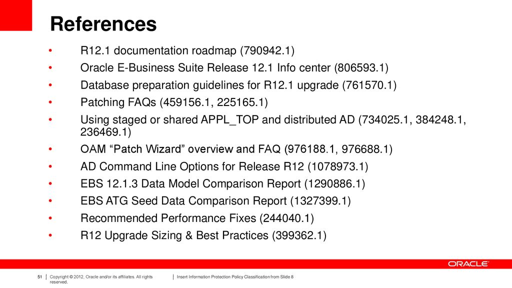 Oracle Documentation R12