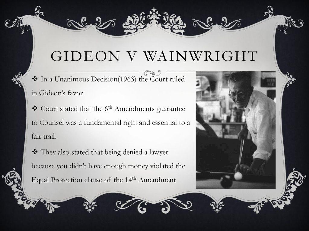 gideon v wainwright summary