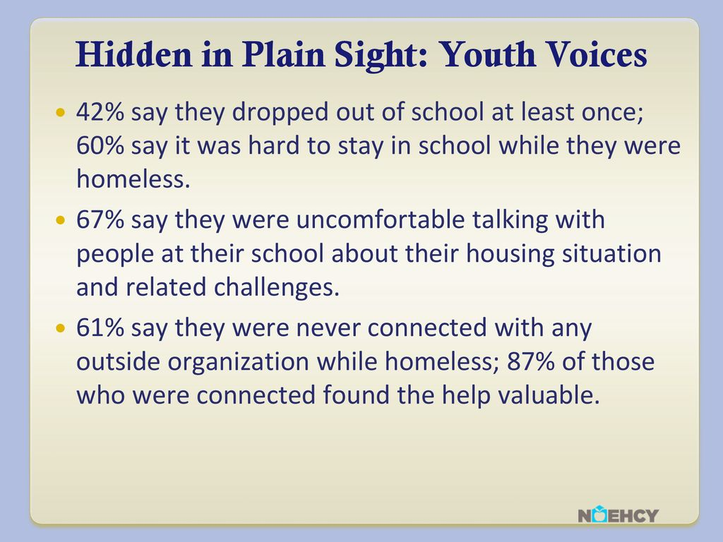 Hidden In Plain Sight Homeless Students >> The Mckinney Vento Act As Amended By The Every Student