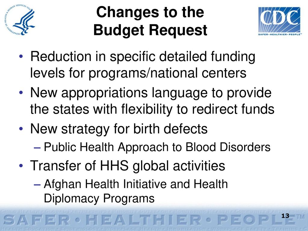 Fiscal Year 2011 CDC/ATSDR President's Budget Request - ppt