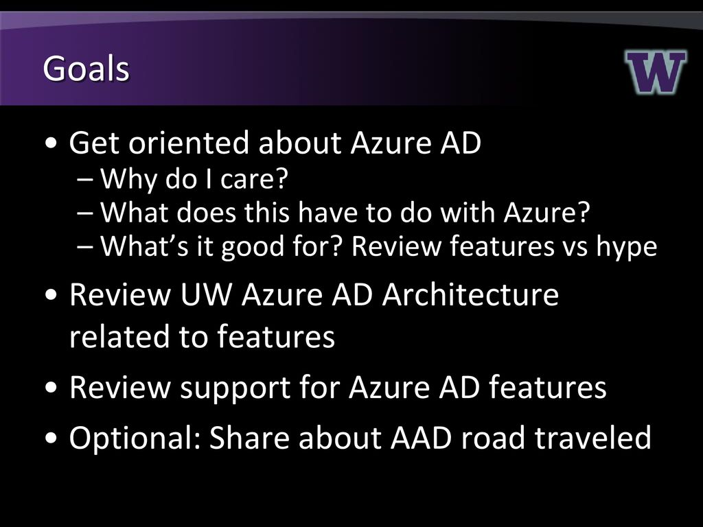 Azure Active Directory at UW February ppt download
