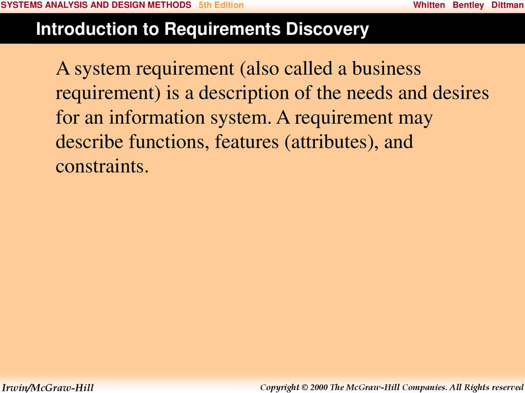 6 Requirementsdiscovery C H A P T E R Ppt Download
