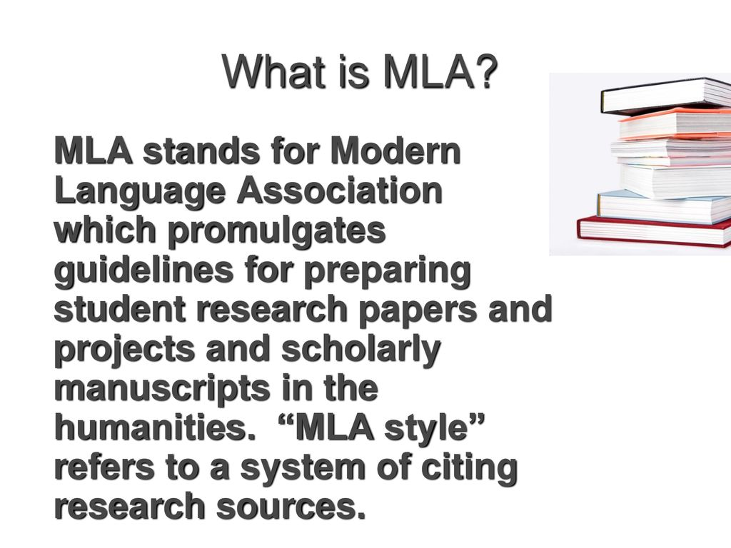 What is MLA