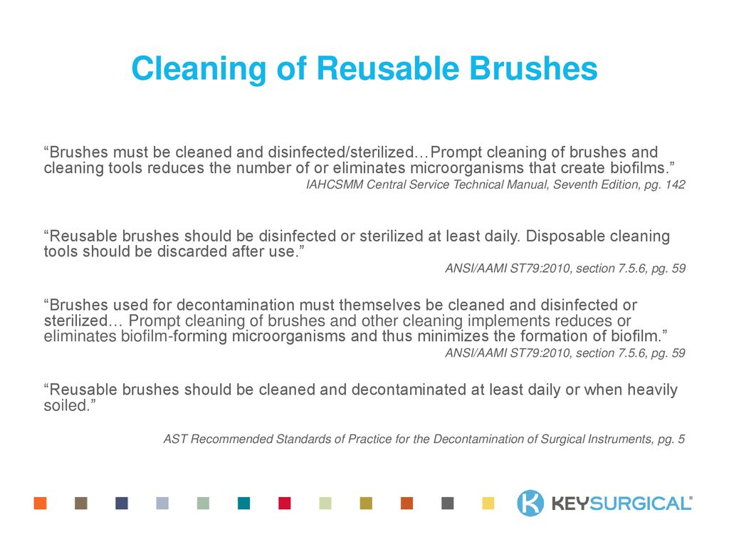 24 Cleaning of Reusable Brushes ""
