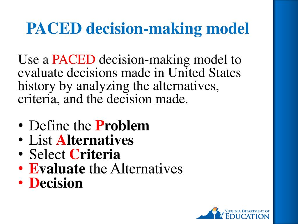 paced decision making