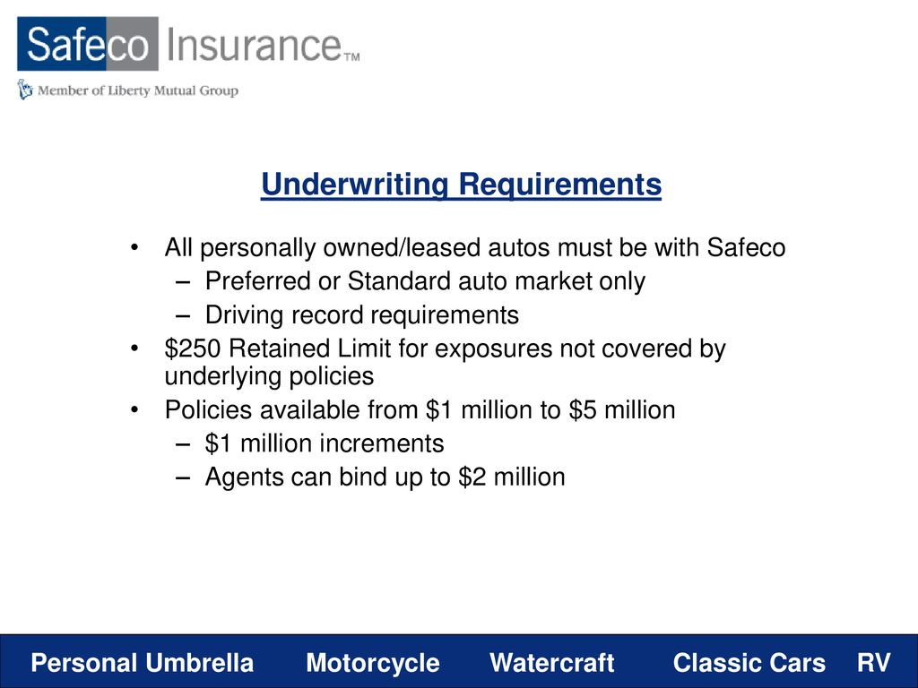 Safeco Roadside Assistance >> Specialty Product Overview Ppt Download