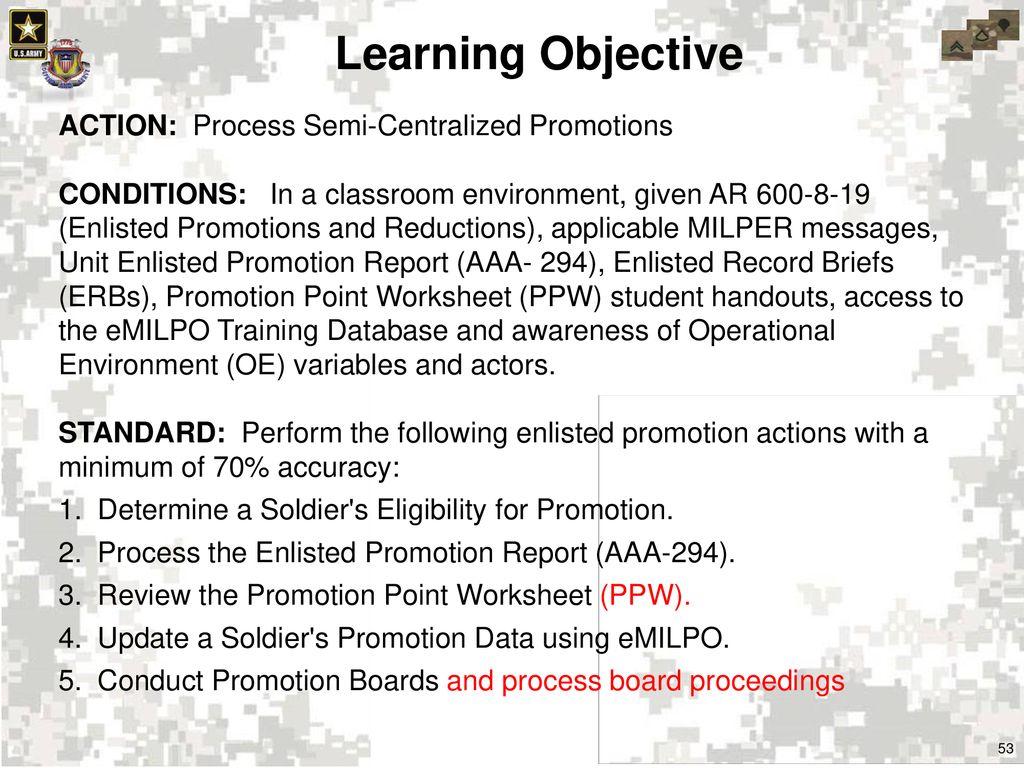 Blank Promotion Point Worksheet | www.topsimages.com