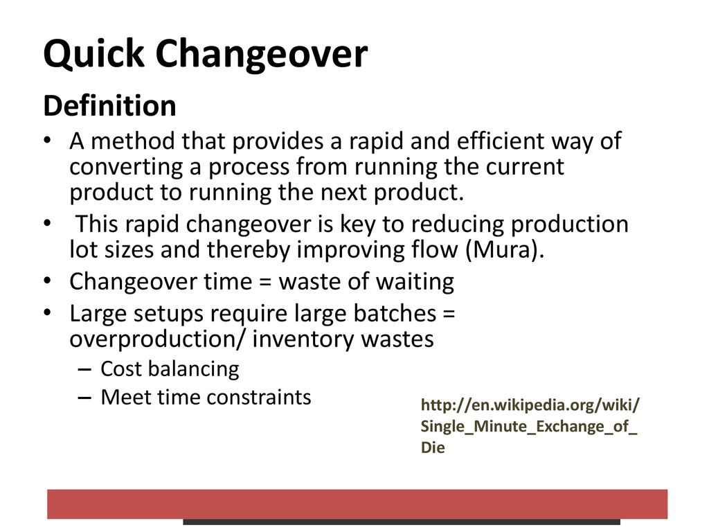 Total Productive Maintenance and Quick Changeover - ppt download