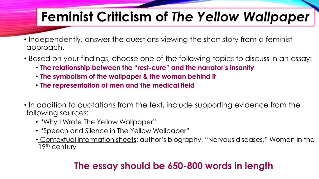 The Yellow Wallpaper Ppt Download