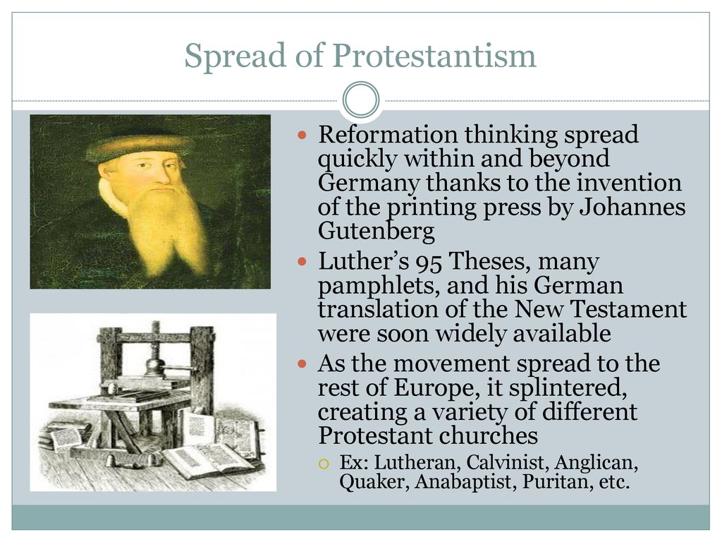 5 Spread Of Protestantism