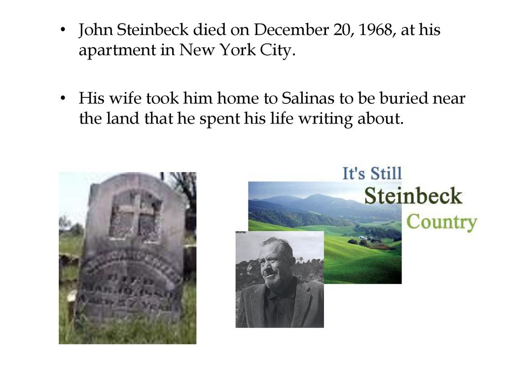 when did steinbeck die
